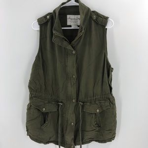 American Rag Army Green Vest Size 2X